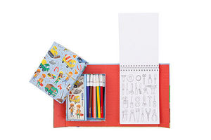 BERTOY - colouring sets construction - Malbuch