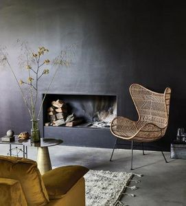 HKLIVING - ratan egg chair - Sessel