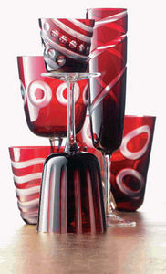 Rotter Glas -  - Gläserservice