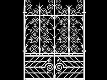 Archipedia - fer forgé grille - Fenstertür, Zweiflügelig