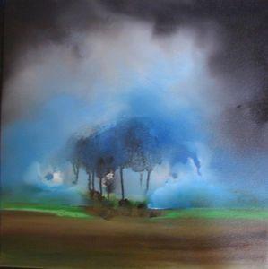 www.maconochie-art.com - ink tree 1 - Ölgemelde Auf Leinwand Und Holztafel
