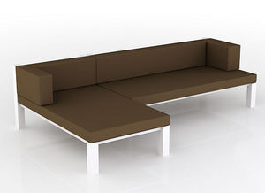 swanky design - rok modular chaise - Gartensofa