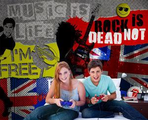 DECLIK - rock & roll - Panoramatapete