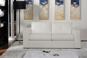 Canapé Show - canapé 3 pl convertible. grand luxe. cuir 2.5mm - Bettsofa