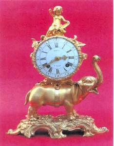 MIESSENGALLERY - pendule à l'éléphant - Tischuhr