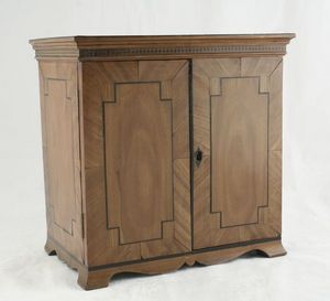 3details - 19th century satinwood table cabinet - Anrichte