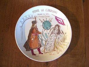 Le Grenier de Matignon - assiette en faience de gien debut du xxe siecle - Flache Teller
