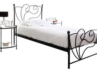 Miliboo - venezia lit 90x190 noir - Einzelbett