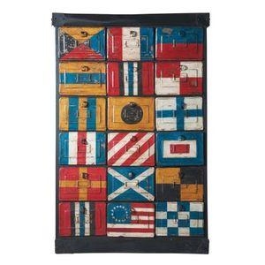 Maisons du monde - cabinet drapeaux - Tallboy, Schmaler Schrank