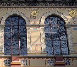VERRERIE DE SAINT JUST - verre etiré noble - Glasfensterfront
