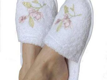 SIRETEX - SENSEI - mules eponge brodées magnolia 420gr/m² - Pantoffel