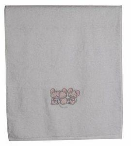 SIRETEX - SENSEI - drap de douche enfant 70x140cm 3 souris roses - Kinder Badetuch