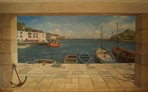 GILLES LAMBERT -  - Trompe L'oeil Malerei