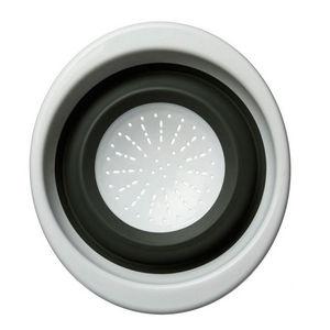 WHITE LABEL - passoire pliante en silicone - Sieb