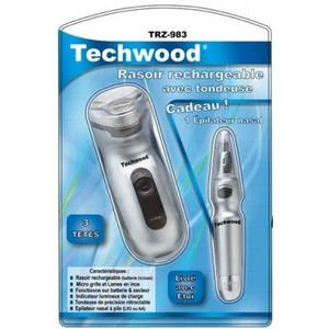 TECHWOOD - rasoir à trois têtes rechargeable homme - Rasierer