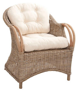 Aubry-Gaspard - fauteuil en poelet gris - Terrassensessel