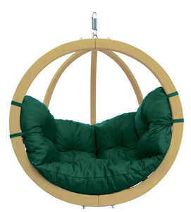 Amazonas - chaise globo à suspendre avec coussin vert - couss - Hollywoodschaukel