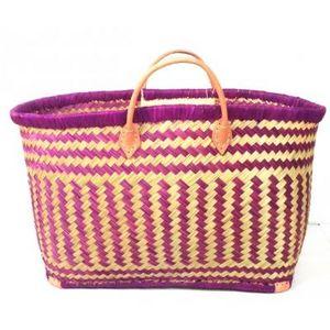 Aubry-Gaspard - cabas en rabane violet - Einkaufstasche