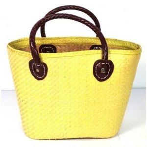 Aubry-Gaspard - cabas en palmier jaune - Einkaufstasche