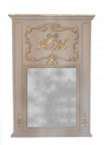 Demeure et Jardin - trumeau style louis xvi gris - Trumeauspiegel