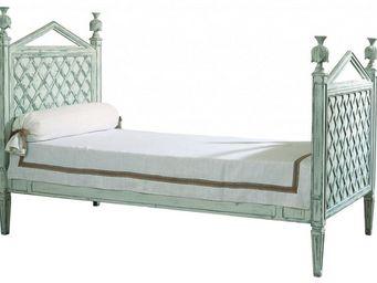 PROVENCE ET FILS - lit phenix couchage 90 / tête de lit et pied de li - Einzelbett