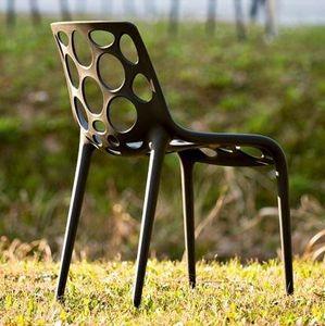 Calligaris - chaise empilable hero de calligaris noire - Gartenstuhl