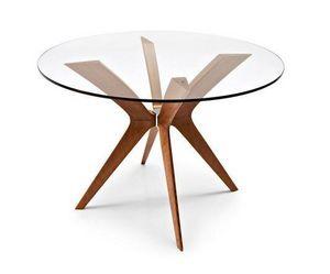 Calligaris - table ronde de repas tokyo 110x110 de calligaris e - Runder Esstisch