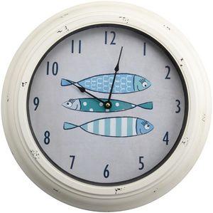 Amadeus - horloge déco poissons - Wanduhr
