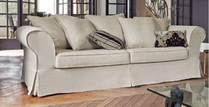 Home Spirit - canapé lit convertible harry tweed blanc matelas b - Bettsofa