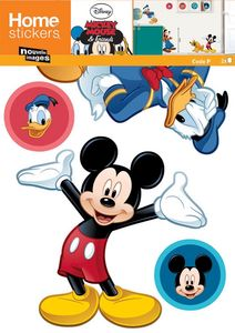 Nouvelles Images - sticker mural mickey et 3 copains - Kinderklebdekor