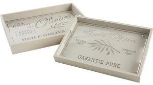 Aubry-Gaspard - plateau rectangulaire bois - Tablett