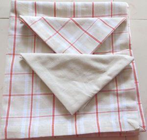 ITI  - Indian Textile Innovation - check with solid - Tischdecke Und Passende Servietten
