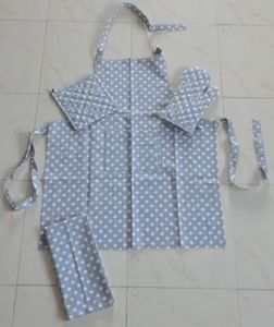 ITI  - Indian Textile Innovation - dots - grey - Küchenschürze