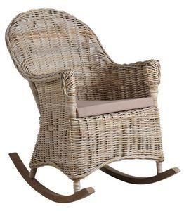 Aubry-Gaspard - rocking chair en poelet gris - Schaukelstuhl