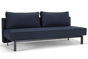 WHITE LABEL - innovation living canape lit design sly bleu nist  - Klappsofa