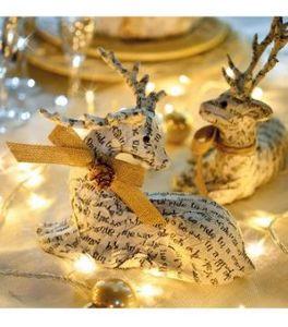 Blachere Illumination - cerf assis - Weihnachtstischdekoration