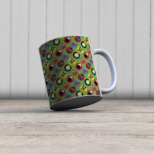 la Magie dans l'Image - mug heros pattern vert petit - Mug