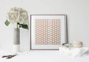 la Magie dans l'Image - print art lotus beige blanc - Poster