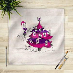 la Magie dans l'Image - foulard noel - Vierecktuch