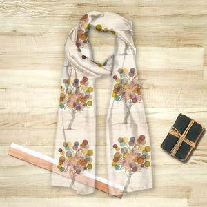 la Magie dans l'Image - foulard renarbre - Vierecktuch