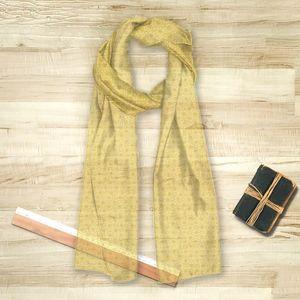 la Magie dans l'Image - foulard trèfle jaune foncé - Vierecktuch