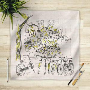 la Magie dans l'Image - foulard vélos - Vierecktuch
