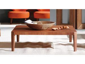 WHITE LABEL - table basse rectangulaire hawai - gris - Rechteckiger Couchtisch