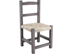Aubry-Gaspard - chaise enfant en bois gris - Kinderstuhl
