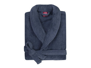 BLANC CERISE - peignoir col kimono - coton peigné 450 g/m² bleu - Bademantel