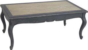 Amadeus - table basse plateau bois - Rechteckiger Couchtisch