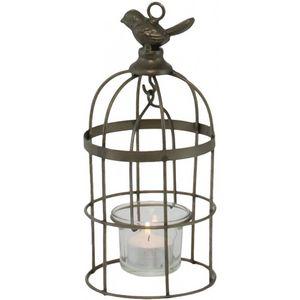 CHEMIN DE CAMPAGNE - lanterne oiseau cage à suspendre ou poser 21 cm - Laterne