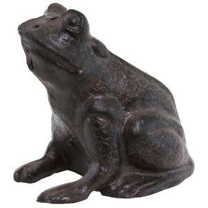 CHEMIN DE CAMPAGNE - statue sculpture crapaud grenouille en fonte de ja - Gartenschmuck