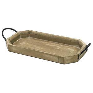 CHEMIN DE CAMPAGNE - serviteur plateau en bois marron 48,5 cm - Tablett