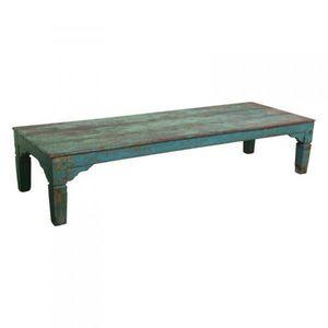 Mathi Design - table basse bois ethnique - Rechteckiger Couchtisch
